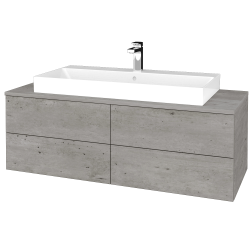 Dřevojas - Koupelnová skříňka MODULE SZZ4 120 - D01 Beton / D01 Beton (336615)