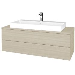 Dřevojas - Koupelnová skříňka MODULE SZZ4 120 - D04 Dub / D04 Dub (336646)