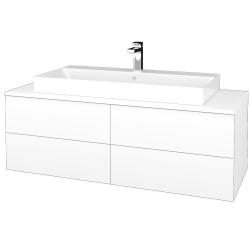 Dřevojas - Koupelnová skříňka MODULE SZZ4 120 - N01 Bílá lesk / M01 Bílá mat (336936)