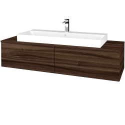 Dřevojas - Koupelnová skříňka MODULE SZZ12 140 - D06 Ořech / D06 Ořech (337643)