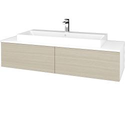 Dřevojas - Koupelnová skříňka MODULE SZZ12 140 - N01 Bílá lesk / D04 Dub (337827)