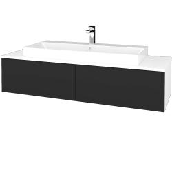 Dřevojas - Koupelnová skříňka MODULE SZZ12 140 - N01 Bílá lesk / N03 Graphite (337964)