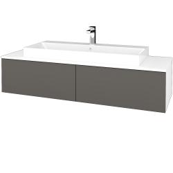Dřevojas - Koupelnová skříňka MODULE SZZ12 140 - N01 Bílá lesk / N06 Lava (337971)