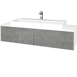 Dřevojas - Koupelnová skříňka MODULE SZZ12 140 - N01 Bílá lesk / D20 Galaxy (338046)