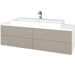 Dřevojas - Koupelnová skříňka MODULE SZZ4 140 - N01 Bílá lesk / L04 Béžová vysoký lesk (338466)