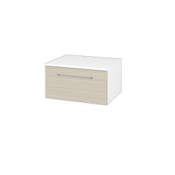 Dřevojas - Skříň nízká DOS SNZ1 60 - N01 Bílá lesk / Úchytka T04 / D04 Dub (281106E)