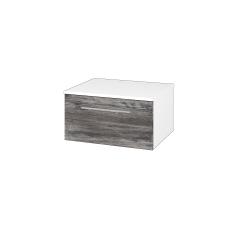 Dřevojas - Skříň nízká DOS SNZ1 60 - N01 Bílá lesk / Úchytka T04 / D10 Borovice Jackson (281151E)