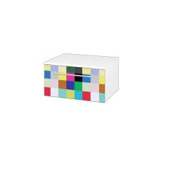 Dřevojas - Skříň nízká DOS SNZ1 60 - N01 Bílá lesk / Úchytka T02 / IND Individual (281212B)