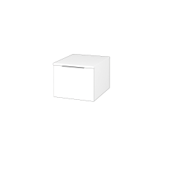 Dřevojas - Skříň nízká DOS SNZ1 40 - N01 Bílá lesk / Úchytka T05 / N01 Bílá lesk (281540F)