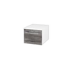 Dřevojas - Skříň nízká DOS SNZ1 40 - N01 Bílá lesk / Úchytka T02 / D10 Borovice Jackson (281625B)