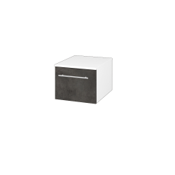 Dřevojas - Skříň nízká DOS SNZ1 40 - N01 Bílá lesk / Úchytka T02 / D16 Beton tmavý (281649B)