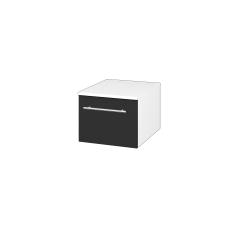 Dřevojas - Skříň nízká DOS SNZ1 40 - N01 Bílá lesk / Úchytka T02 / L03 Antracit vysoký lesk (281694B)