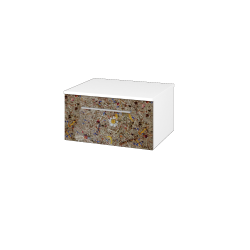 Dřevojas - Skříň nízká DOS SNZ1 60 - N01 Bílá lesk / Úchytka T04 / J01 Organic (325756E)