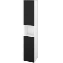 Dřevojas - Skříň vysoká DOS SVD2O 35 - N01 Bílá lesk / Bez úchytky T31 / N08 Cosmo / Pravé (280802DP)