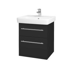 Dřevojas - Koupelnová skříň Q MAX SZZ2 55 - N03 Graphite / Úchytka T02 / N03 Graphite (198121B)