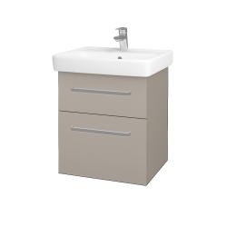 Dřevojas - Koupelnová skříň Q MAX SZZ2 55 - N07 Stone / Úchytka T01 / N07 Stone (198145A)