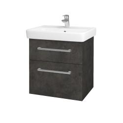 Dřevojas - Koupelnová skříň Q MAX SZZ2 60 - D16  Beton tmavý / Úchytka T03 / D16 Beton tmavý (198329C)