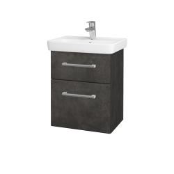Dřevojas - Koupelnová skříň GO SZZ2 50 - D16  Beton tmavý / Úchytka T03 / D16 Beton tmavý (204440C)