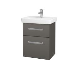 Dřevojas - Koupelnová skříň GO SZZ2 50 - N06 Lava / Úchytka T01 / N06 Lava (204587A)