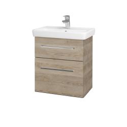 Dřevojas - Koupelnová skříň GO SZZ2 55 - D17 Colorado / Úchytka T04 / D17 Colorado (204648E)