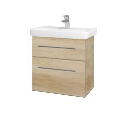 Dřevojas - Koupelnová skříň GO SZZ2 60 - D15 Nebraska / Úchytka T02 / D15 Nebraska (204815B)