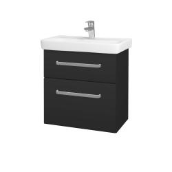 Dřevojas - Koupelnová skříň GO SZZ2 60 - N03 Graphite / Úchytka T01 / N03 Graphite (204969A)