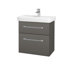 Dřevojas - Koupelnová skříň GO SZZ2 60 - N06 Lava / Úchytka T03 / N06 Lava (204976C)