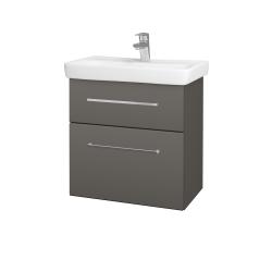 Dřevojas - Koupelnová skříň GO SZZ2 60 - N06 Lava / Úchytka T04 / N06 Lava (204976E)