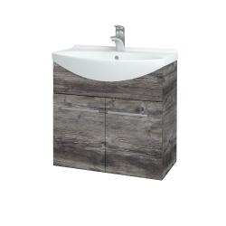 Dřevojas - Koupelnová skříň TAKE IT SZD2 65 - D10 Borovice Jackson / Úchytka T02 / D10 Borovice Jackson (205843B)