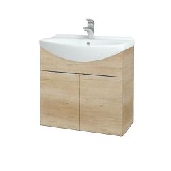 Dřevojas - Koupelnová skříň TAKE IT SZD2 65 - D15 Nebraska / Úchytka T05 / D15 Nebraska (205850F)