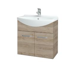 Dřevojas - Koupelnová skříň TAKE IT SZD2 65 - D17 Colorado / Úchytka T01 / D17 Colorado (205874A)