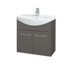 Dřevojas - Koupelnová skříň TAKE IT SZD2 65 - N06 Lava / Úchytka T03 / N06 Lava (205973C)