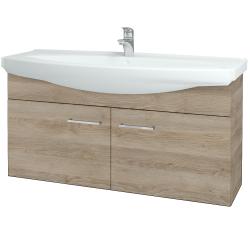 Dřevojas - Koupelnová skříň TAKE IT SZD2 120 - D17 Colorado / Úchytka T04 / D17 Colorado (206512E)