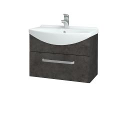 Dřevojas - Koupelnová skříň TAKE IT SZZ 65 - D16  Beton tmavý / Úchytka T01 / D16 Beton tmavý (206666A)