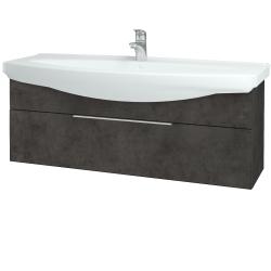 Dřevojas - Koupelnová skříň TAKE IT SZZ 120 - D16  Beton tmavý / Úchytka T05 / D16 Beton tmavý (207304F)