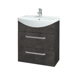 Dřevojas - Koupelnová skříň TAKE IT SZZ2 65 - D16  Beton tmavý / Úchytka T01 / D16 Beton tmavý (207465A)