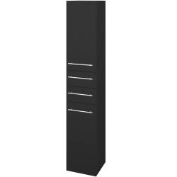 Dřevojas - Skříň vysoká DOS SVD2Z2 35 - N03 Graphite / Úchytka T02 / N03 Graphite / Levé (210076B)