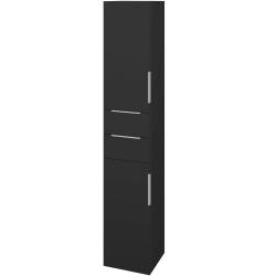 Dřevojas - Skříň vysoká DOS SVD2Z2 35 - N03 Graphite / Úchytka T05 / N03 Graphite / Pravé (210076FP)