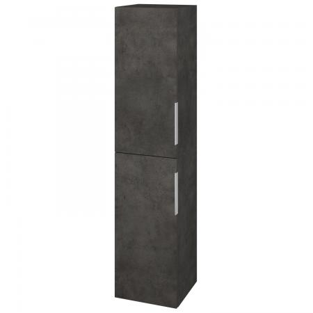 Dřevojas - Skříň vysoká s košem DOS SVD2K 35 - D16  Beton tmavý / Úchytka T05 / D16 Beton tmavý / Levé (210625F)