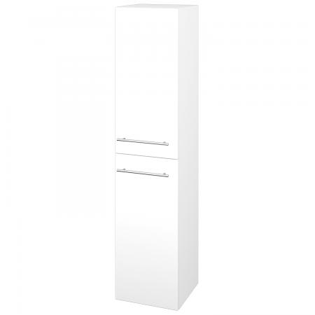 Dřevojas - Skříň vysoká s košem DOS SVD2K 35 - M01 Bílá mat / Úchytka T02 / M01 Bílá mat / Pravé (210670BP)