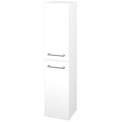 Dřevojas - Skříň vysoká s košem DOS SVD2K 35 - M01 Bílá mat / Úchytka T03 / M01 Bílá mat / Pravé (210670CP)