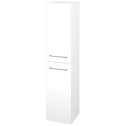 Dřevojas - Skříň vysoká s košem DOS SVD2K 35 - M01 Bílá mat / Úchytka T04 / M01 Bílá mat / Levé (210670E)