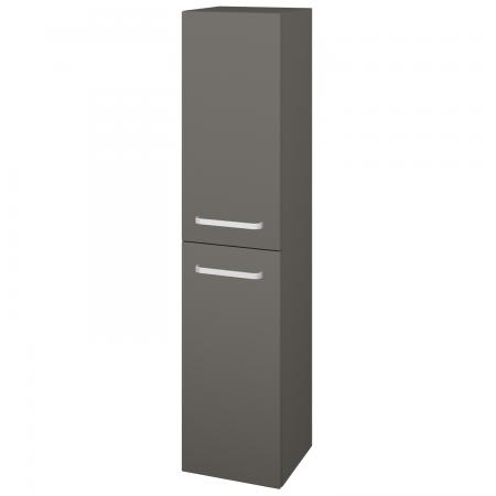 Dřevojas - Skříň vysoká s košem DOS SVD2K 35 - N06 Lava / Úchytka T01 / N06 Lava / Levé (210946A)