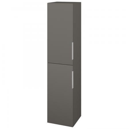 Dřevojas - Skříň vysoká s košem DOS SVD2K 35 - N06 Lava / Úchytka T05 / N06 Lava / Levé (210946F)