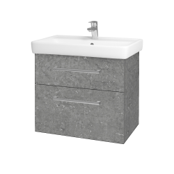Dřevojas - Koupelnová skříň Q MAX SZZ2 70 - D20 Galaxy / Úchytka T03 / D20 Galaxy (275655C)