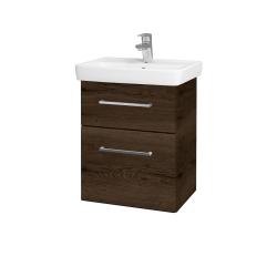 Dřevojas - Koupelnová skříň GO SZZ2 50 - D21 Tobacco / Úchytka T04 / D21 Tobacco (278816E)
