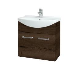 Dřevojas - Koupelnová skříň TAKE IT SZD2 65 - D21 Tobacco / Úchytka T03 / D21 Tobacco (279059C)
