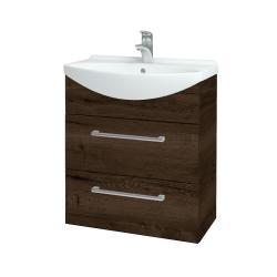 Dřevojas - Koupelnová skříň TAKE IT SZZ2 65 - D21 Tobacco / Úchytka T03 / D21 Tobacco (279097C)