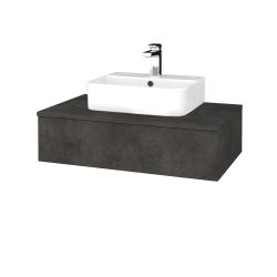 Dřevojas - Koupelnová skříňka MODULE SZZ 80 - D16  Beton tmavý / D16 Beton tmavý (297039)
