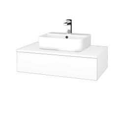 Dřevojas - Koupelnová skříňka MODULE SZZ 80 - M01 Bílá mat / M01 Bílá mat (297053)